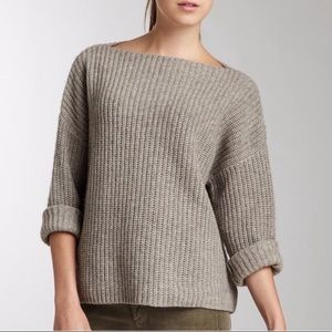 Vince Chunky Rib Boatneck Sweater